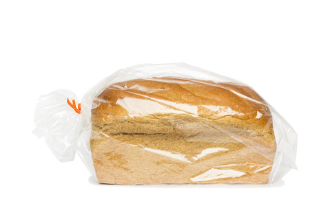 Honey Wheat Bread Loaf In Bag Stock Photo