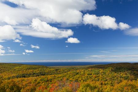 Autumn Hills and Lake Superior Scenic Landscape