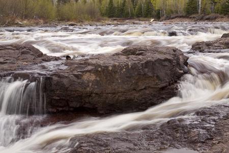 temperance: Temperance River Rapids Stock Photo