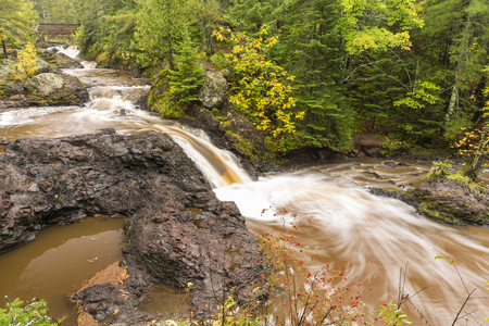 pit fall: Snake Pit Falls On The Amnicon River