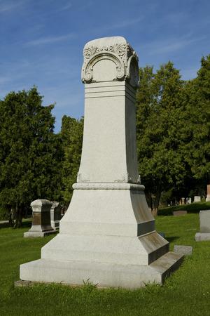 Cemetery Gravestone Monument Editorial