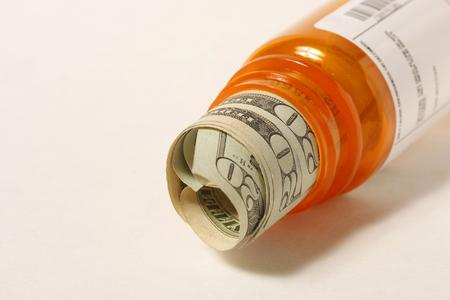 処方薬のお金 写真素材