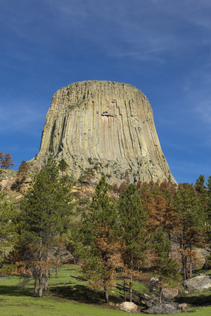 intrusion: Devils Tower Rock Formation
