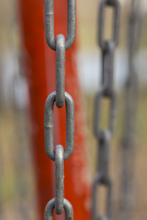 fastened: Chains Abstract Stock Photo