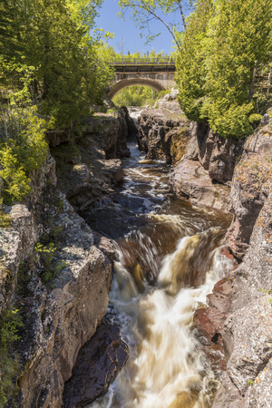 temperance: Temperance River Waterfall Stock Photo