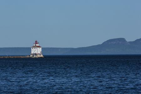 Thunder Bay-vuurtoren Stockfoto