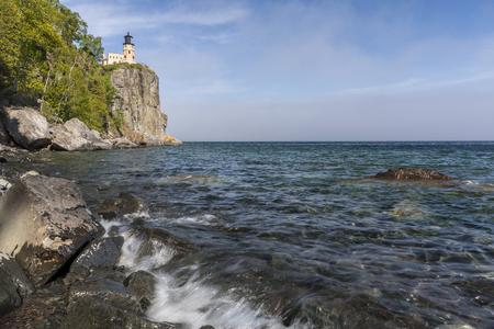 Split Rock Lighthouse On Lake Superior Stock Photo