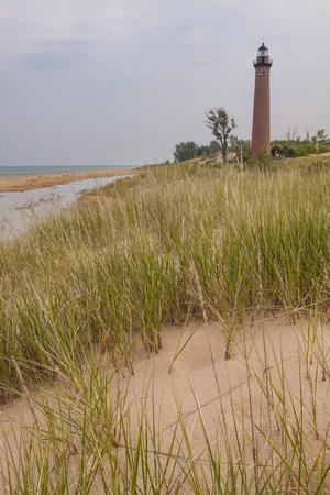 Little sable lighthouse on Lake Michigan