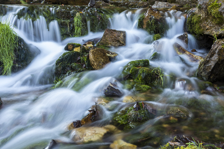 Willow River Waterfall - A closeup of part of a large waterfall.