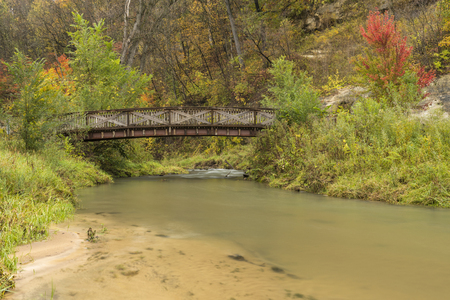 Thompson Creek Bridge In Autumn