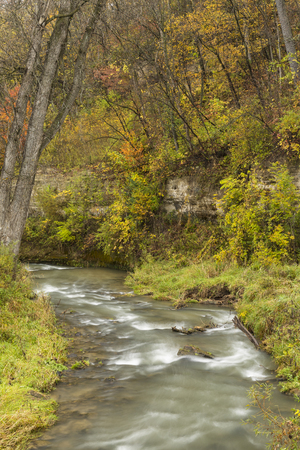 Thompson Creek In Autumn Stock Photo