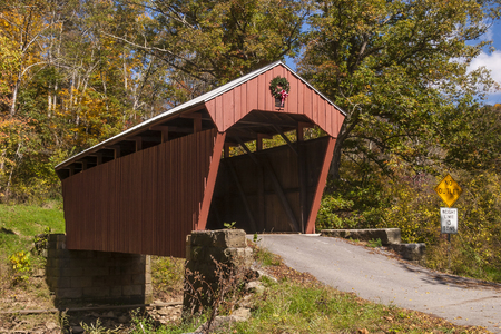 Fletcher Covered Bridge In Autumn
