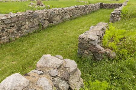 Old Fort Building Remains Stock fotó