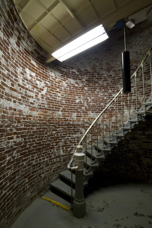 Staircase inside a lighthouse