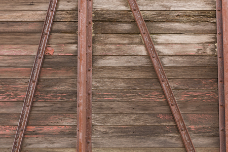 Railroad Wooden Box Car Siding Stock Photo
