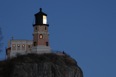 Split Rock Lighthouse At Night