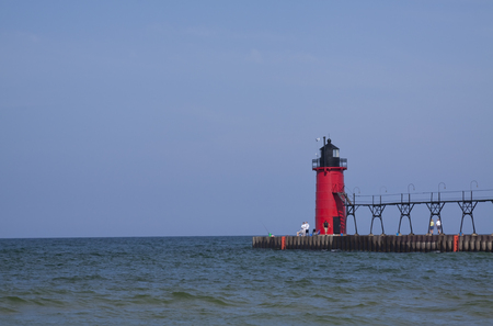 South Haven Lighthouse Along Lake Michigan