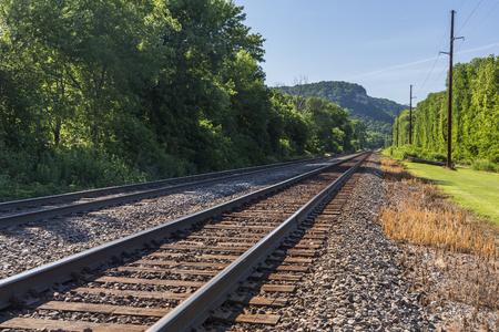 Railroad Double Track Mainline Scenic Landscape