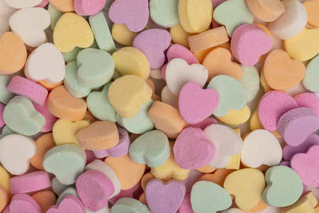 Little Candy Hearts Stockfoto