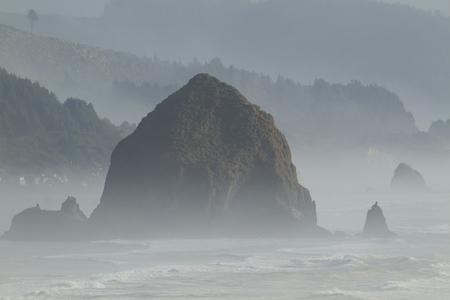 Oregon Pacific Ocean Coast Haystack Rock Stock Photo