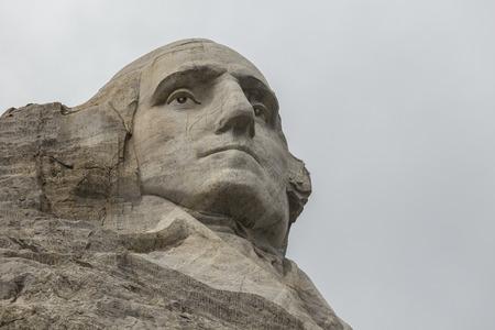George Washington on Mt. Rushmore in South Dakota. Editorial