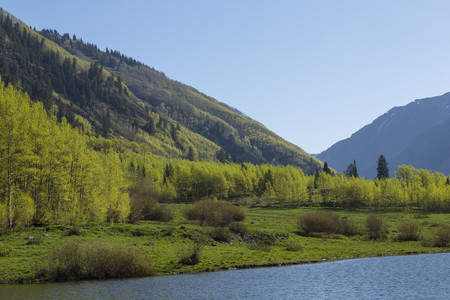 Mountains and Lake Scenic Landscape