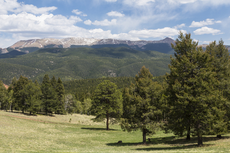 Rocky Mountains Scenic Landscape Stock Photo