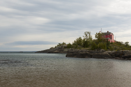 Marquette Harbor Lighthouse Along Lake Superior