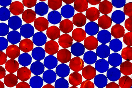 Red and Blue Translucent Marbles
