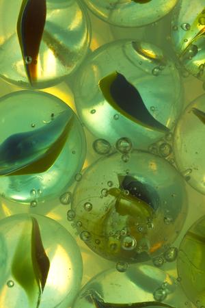 Cat Eye Marbles In Clear Soda 版權商用圖片