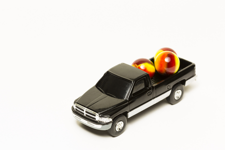 Toy Truck with Marbles