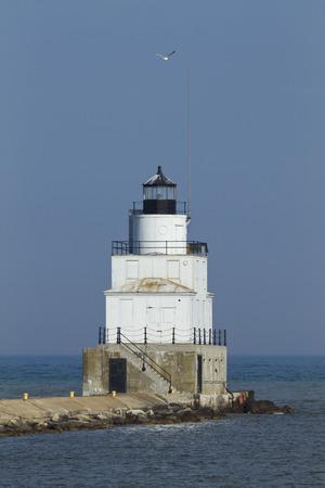 Manitowoc Breakwater Lighthouse 版權商用圖片