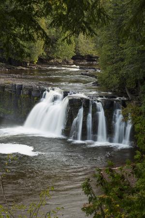 Manabezho Falls Waterfall 版權商用圖片