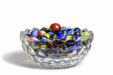 Marble Collection In Glass Bowl 版權商用圖片