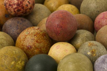 Antique Clay Marble Collection 版權商用圖片
