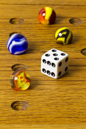 Marbles & Dice Board Game