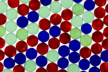 Red, Blue, and Green Translucent Marbles