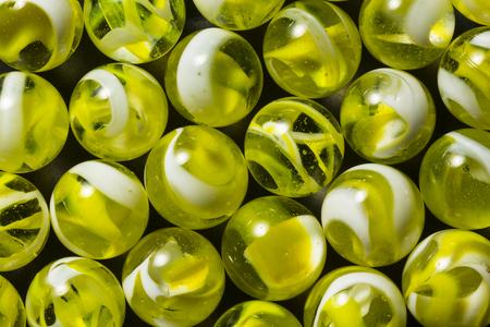 Yellow & White Swirl Marbles