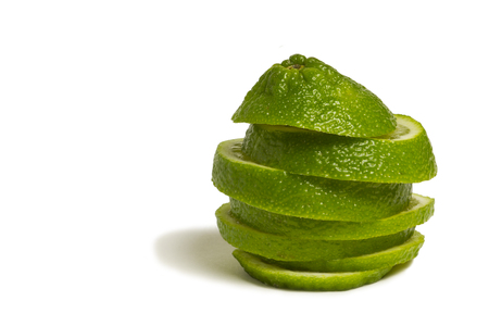 Lime Fruit that has been sliced and stacked