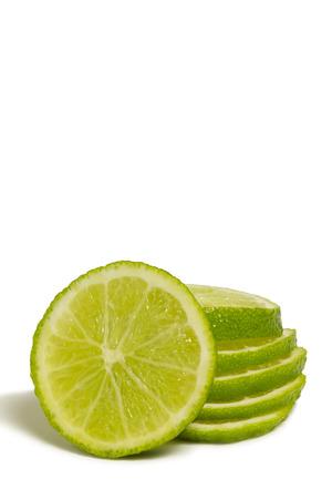 Sliced Lime Fruit 版權商用圖片