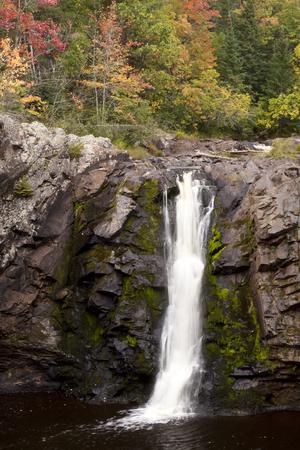 Little Manitou Falls Waterfall ln Autumn