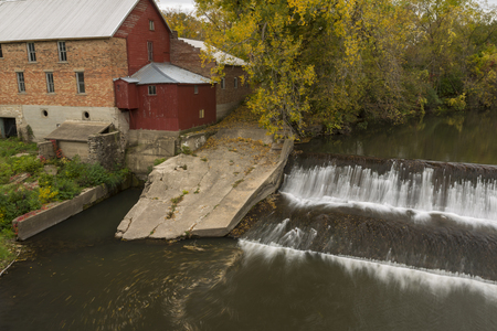 Old Grist Mill In Autumn