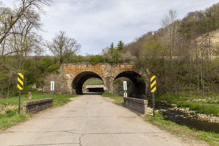 Railroad Stone Arch Bridge