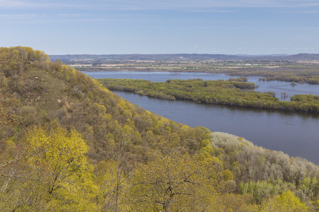 Mississippi River Scenic View In Spring