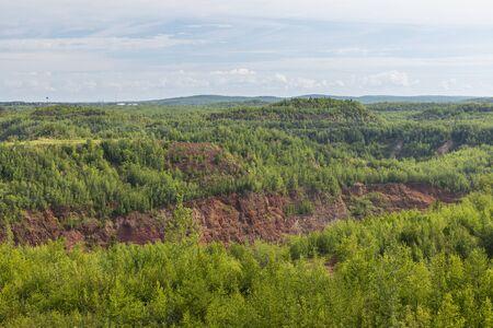 Open Pit Taconite Mine Scenic Landscape 写真素材