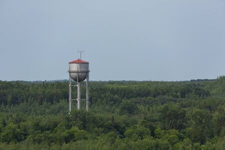 Water Tower Above The Trees 版權商用圖片