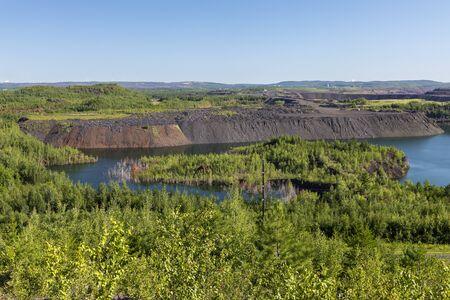 Open Pit Iron Ore Mine Scenic View