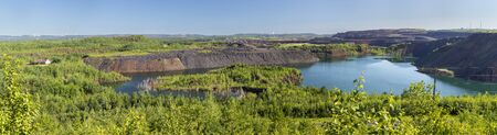 Open Pit Iron Ore Mine Panoramic View