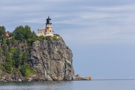Split Rock Lighthouse On Lake Superior 版權商用圖片