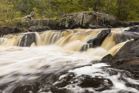 Eau Claire River Waterfall In Autumn